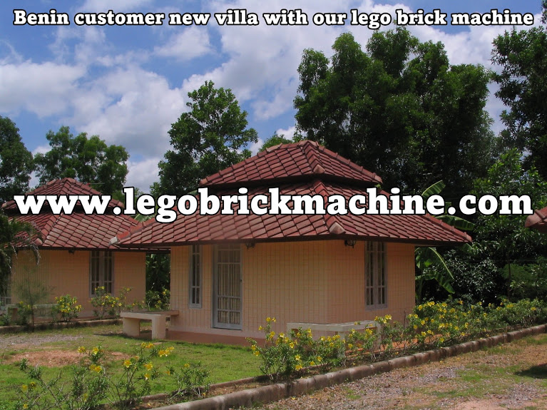 Benin customer lego brick house with our machine